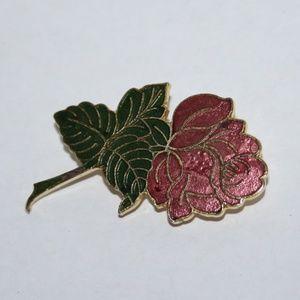 Vintage rose brooch by American Greetings Corp